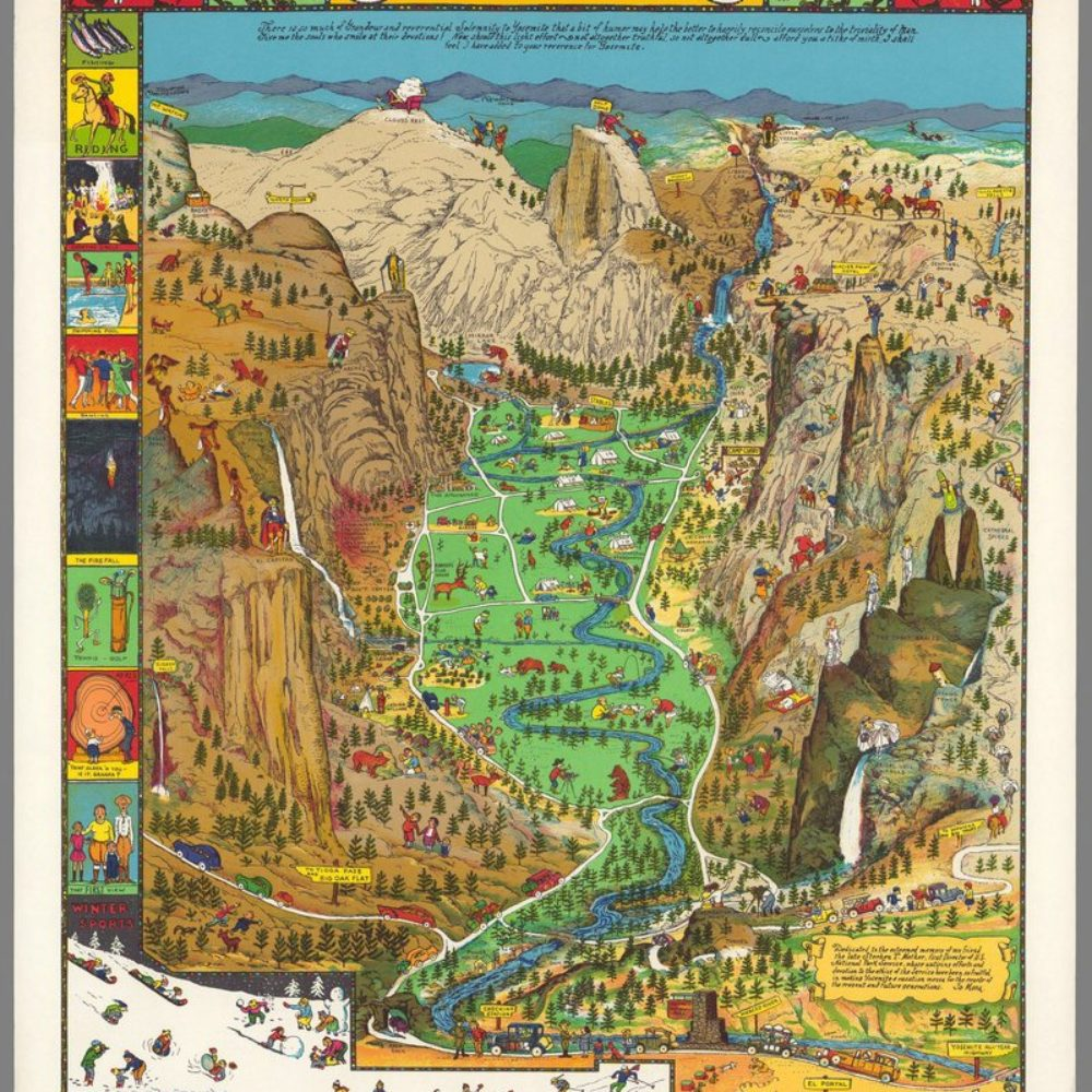 yosemite Valley in un antico poster